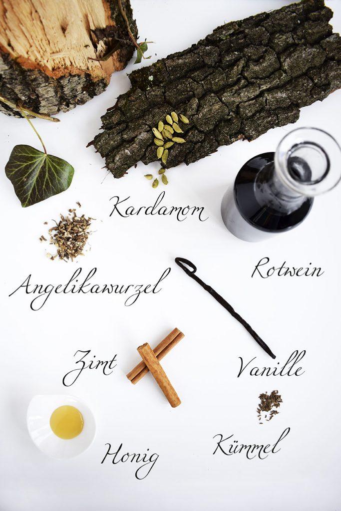 Zutaten für Medizinalwein